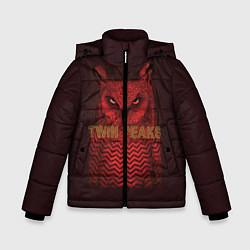 Куртка зимняя для мальчика Twin Peaks: Red Owl цвета 3D-черный — фото 1