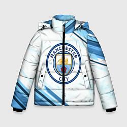 Детская зимняя куртка для мальчика с принтом Manchester city, цвет: 3D-черный, артикул: 10154362106063 — фото 1