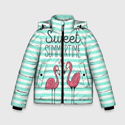 Куртка зимняя для мальчика Sweet Summer Flamingo цвета 3D-черный — фото 1