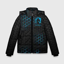 Детская зимняя куртка для мальчика с принтом Team Liquid: Carbon Style, цвет: 3D-черный, артикул: 10154882906063 — фото 1