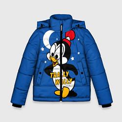 Куртка зимняя для мальчика Trally Wally цвета 3D-черный — фото 1