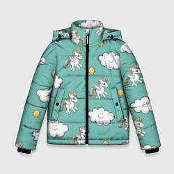 Куртка зимняя для мальчика Love of Unicorns цвета 3D-черный — фото 1