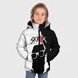 Куртка зимняя для мальчика Skrillex: Black & White цвета 3D-черный — фото 2