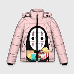 Детская зимняя куртка для мальчика с принтом Унесенные призраками, цвет: 3D-черный, артикул: 10155852506063 — фото 1