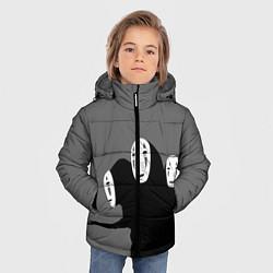 Детская зимняя куртка для мальчика с принтом Унесенные призраками, цвет: 3D-черный, артикул: 10155872306063 — фото 2