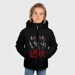 Детская зимняя куртка для мальчика с принтом Slayer Band, цвет: 3D-черный, артикул: 10156552506063 — фото 2
