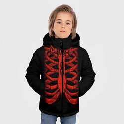 Куртка зимняя для мальчика Slipknot Skeleton цвета 3D-черный — фото 2