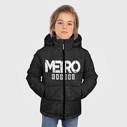Детская зимняя куртка для мальчика с принтом Metro Exodus: Space Grey, цвет: 3D-черный, артикул: 10160285906063 — фото 2