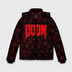 Куртка зимняя для мальчика DOOM: Hellish signs цвета 3D-черный — фото 1