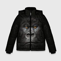 Детская зимняя куртка для мальчика с принтом Морда Гориллы, цвет: 3D-черный, артикул: 10161070506063 — фото 1