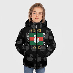 Куртка зимняя для мальчика GUSSI: Little Style цвета 3D-черный — фото 2
