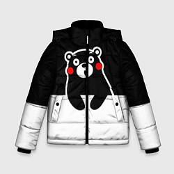 Детская зимняя куртка для мальчика с принтом Kumamon Surprised, цвет: 3D-черный, артикул: 10162547706063 — фото 1