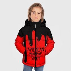 Куртка зимняя для мальчика AHS: Black Blood цвета 3D-черный — фото 2