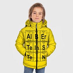 Куртка зимняя для мальчика Альберт Эйнштейн цвета 3D-черный — фото 2