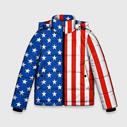 Куртка зимняя для мальчика American Patriot цвета 3D-черный — фото 1