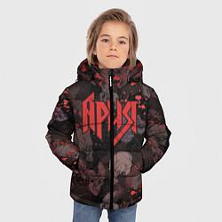 Детская зимняя куртка для мальчика с принтом Ария, цвет: 3D-черный, артикул: 10163228706063 — фото 2