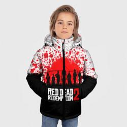 Куртка зимняя для мальчика RDR 2: Red Blood цвета 3D-черный — фото 2