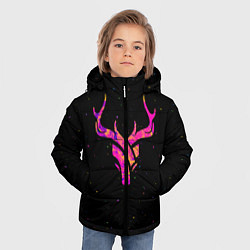 Куртка зимняя для мальчика Neon Deer цвета 3D-черный — фото 2
