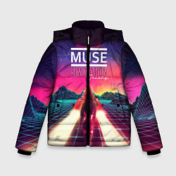 Куртка зимняя для мальчика Muse: Simulation Theory цвета 3D-черный — фото 1