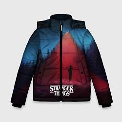 Куртка зимняя для мальчика Stranger Things: Red Lantern цвета 3D-черный — фото 1