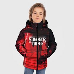 Куртка зимняя для мальчика Stranger Things: Red Dream цвета 3D-черный — фото 2