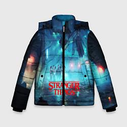 Куртка зимняя для мальчика Stranger Things: Space Light цвета 3D-черный — фото 1