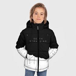 Куртка зимняя для мальчика Death Stranding: Black & White цвета 3D-черный — фото 2