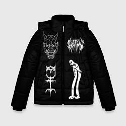 Куртка зимняя для мальчика Ghostemane: Mercury Sign цвета 3D-черный — фото 1