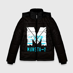 Детская зимняя куртка для мальчика с принтом MONSTA X, цвет: 3D-черный, артикул: 10170154506063 — фото 1