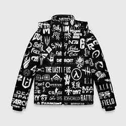 Куртка зимняя для мальчика Истинный геймер цвета 3D-черный — фото 1
