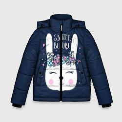 Детская зимняя куртка для мальчика с принтом Sweet Bunny, цвет: 3D-черный, артикул: 10171329506063 — фото 1
