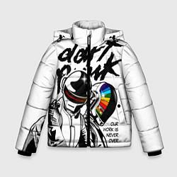 Детская зимняя куртка для мальчика с принтом Daft Punk: Our work is never over, цвет: 3D-черный, артикул: 10171356906063 — фото 1