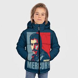 Куртка зимняя для мальчика Queen: Freddie Mercury цвета 3D-черный — фото 2