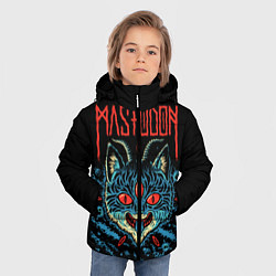 Детская зимняя куртка для мальчика с принтом Mastodon: Demonic Cat, цвет: 3D-черный, артикул: 10172767106063 — фото 2