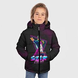 Куртка зимняя для мальчика JoJo: Star Platinum цвета 3D-черный — фото 2