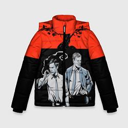 Куртка зимняя для мальчика True Detective: Red & Black цвета 3D-черный — фото 1