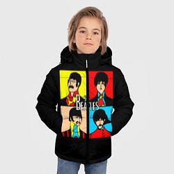 Куртка зимняя для мальчика The Beatles: Pop Art цвета 3D-черный — фото 2