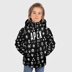 Куртка зимняя для мальчика Apex Legends: Black Pattern цвета 3D-черный — фото 2