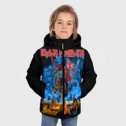 Детская зимняя куртка для мальчика с принтом Iron Maiden: Great Britain Warriors, цвет: 3D-черный, артикул: 10173209106063 — фото 2