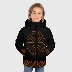 Куртка зимняя для мальчика Символ Колядник цвета 3D-черный — фото 2
