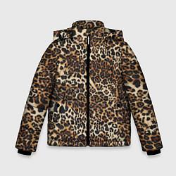 Куртка зимняя для мальчика Шкура леопарда цвета 3D-черный — фото 1