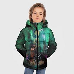 Куртка зимняя для мальчика Billie Eilish: Green Space цвета 3D-черный — фото 2