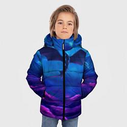 Куртка зимняя для мальчика Неоновая фурия цвета 3D-черный — фото 2