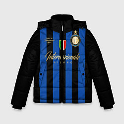 Детская зимняя куртка для мальчика с принтом Internazionale Milano, цвет: 3D-черный, артикул: 10174520506063 — фото 1