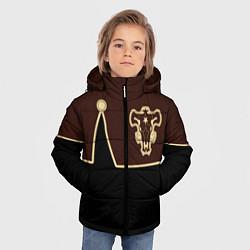 Куртка зимняя для мальчика Черный Клевер: Мантия цвета 3D-черный — фото 2