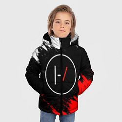 Куртка зимняя для мальчика 21 Pilots: Black & Red цвета 3D-черный — фото 2