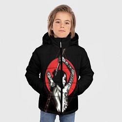 Детская зимняя куртка для мальчика с принтом Девушка с мечом, цвет: 3D-черный, артикул: 10180363506063 — фото 2