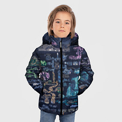 Куртка зимняя для мальчика HOLLOW KNIGHT WORLD цвета 3D-черный — фото 2