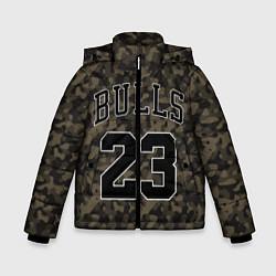 Куртка зимняя для мальчика Chicago Bulls 23: Khaki Camo цвета 3D-черный — фото 1
