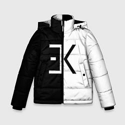 Куртка зимняя для мальчика Егор Крид: ЕК цвета 3D-черный — фото 1
